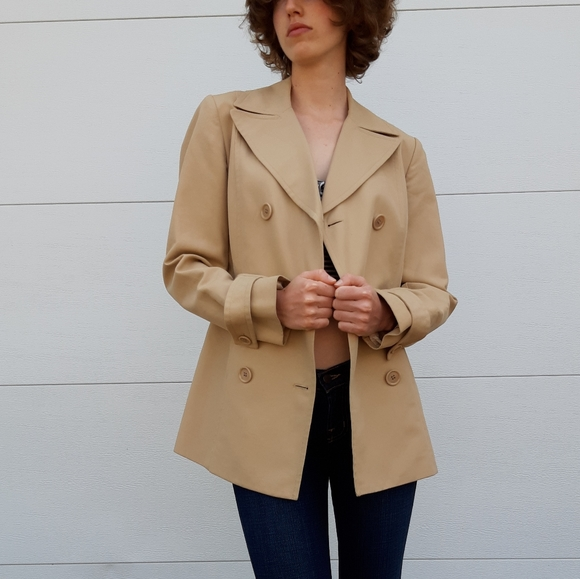 J. Crew Jackets & Blazers - J. Crew double breasted trench coat jacket tan 4